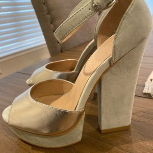 Madison shoe dazzle mint heels 7.5